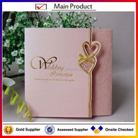 manufacture new design fashion wedding invitation card