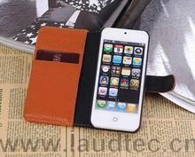 High Quality Lichee Pattern Wallet Case for Apple IPhone 5S,For IPhone 5S Card Case Laudtec