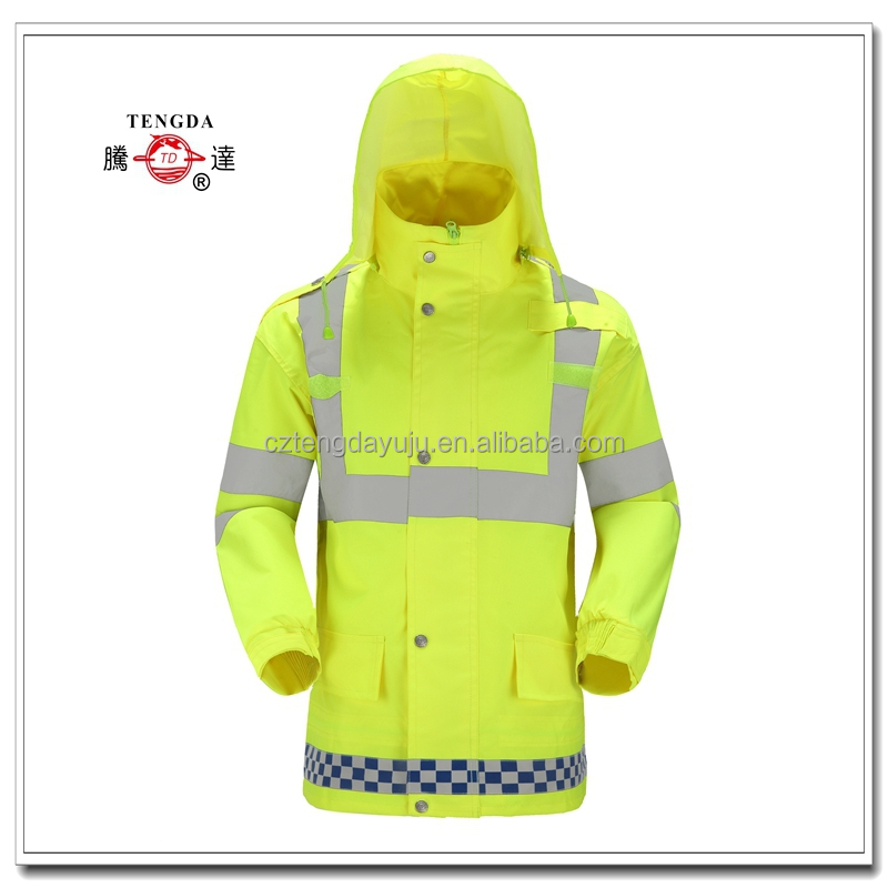changzhou factory price customized Oxford nylon PVC waterproof policeman reflective safety clothing