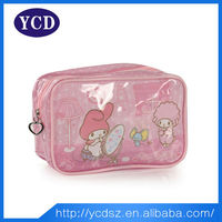 Cheap wholesale clear pvc cosmetic bag for ladies
