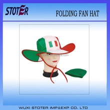 190T folding cowboy hat with italy Flag