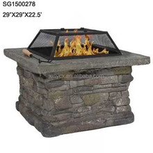 Faux slate stone finish garden treasures fire pit for sale