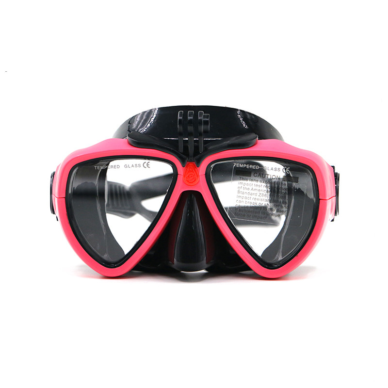 High Quality Female Gopro scuba silicone Snorkeling diving mask