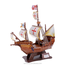 DIY educational 3D puzz famous Pirate ship puzzles for children toys
