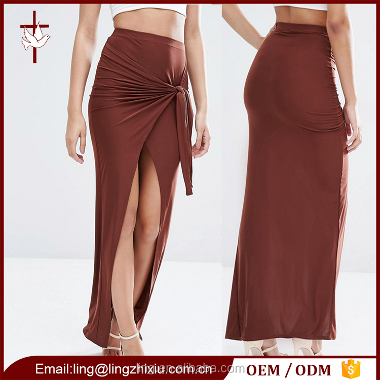 Latest clothes fashion wholesale maxi long skirts designs for women