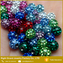 Mixed Color CZ Crystal Balls Epoxy Coated Screw Loose Ball Piercing Parts
