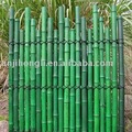 Dyed half pole bamboo screen
