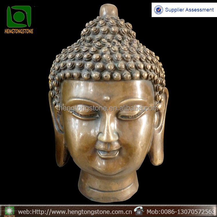 Antique metal crafts bronze buddha head statues