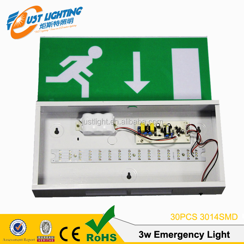 Permanent Rechargeable 3W Emergency lighting Exit Sign