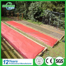 Free sample eco-friendly breathable biodegradable red plastic mulch film for tomatoes