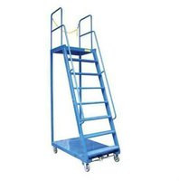 Industrial and Warehouse Ladder Trolley / Step Ladder Trolley