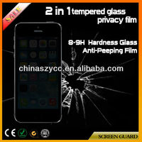Factory Supply 9H Anti-scratch Anti-spy Tempered Glass Privacy Screen Protector For Iphone5