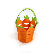 Wholesale Colorful Hollow Out Spring Easter Style Non woven Fabric Felt Basket For Kids