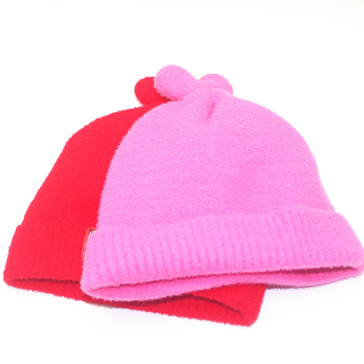 jiangun cotton korean kids high quality baby winter crochet hats and caps