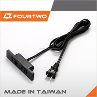 Electric Japan Taiwan standard ac power extension cord