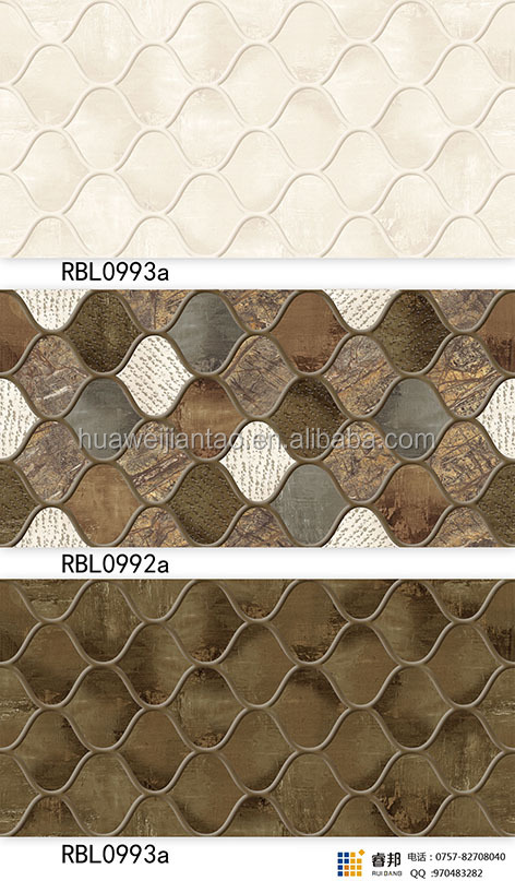 2016 Decorative Interior Latest Design Ceramic Wall tiles prices in sri lanka Tile 300x600mm 12x24in