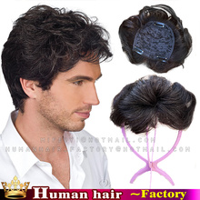 Brazilian Remy Human Hair Curl Top Mens Toupee woman Hairpiece Cover White Hair Replacement men's toupee Wig mens hair systems