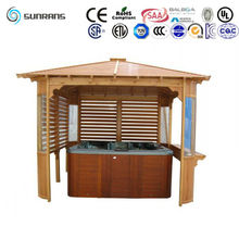 2015 New design wooden pergola gazebo with factory price(SR892)