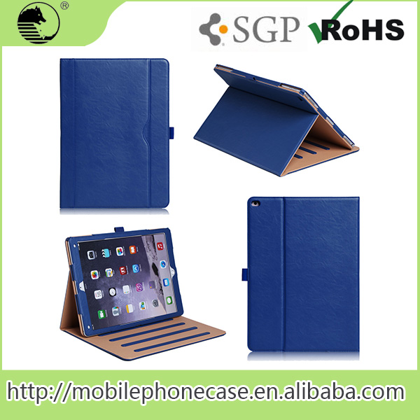 "Hot 2015 Newest Product 12.9"" PU Eco Tablet Pouches For iPad Pro"