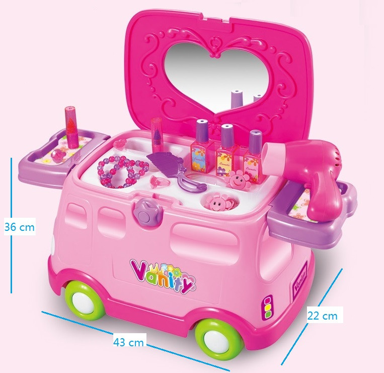 new premium electric kids car toy vehicle play house dressing table