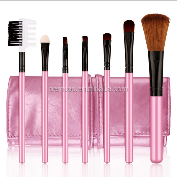 Hot selling 4 days fast shipping make up brush set with cosmetic bag