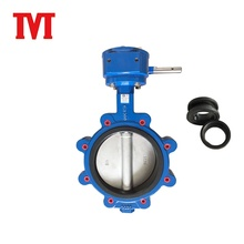 low price 6 inch vacuum motor operated semi lug butterfly valve