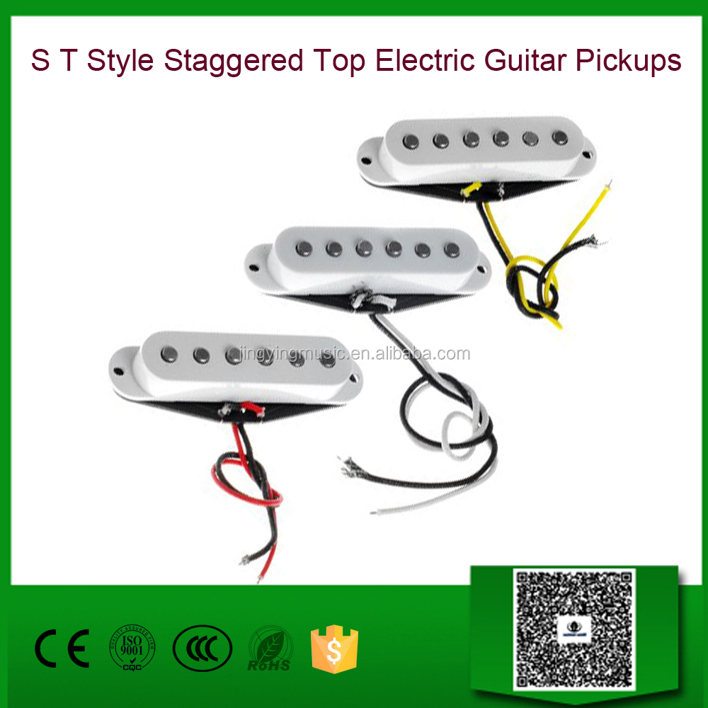 Wholesale S T Style Staggered Top Electric Guitar Pickups