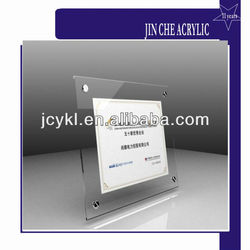 Back Holder Transparent Acrylic Plastic Photo Frame, Acrylic Picture Frame