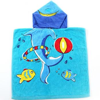 100% cotton highly soft terry hooded baby bath towel with custom print