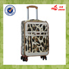 best selling 4pcs pu leather wheeled girls travel luggage