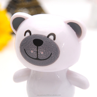 bear desk toys solar powered white bear solar dancing bear, solar dancing toy