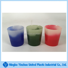 changing color plastic drinking cup shot glass personalized
