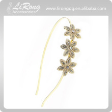 Temperament tiara Fashion Diamond-encrusted flower alloy headband,Hairband