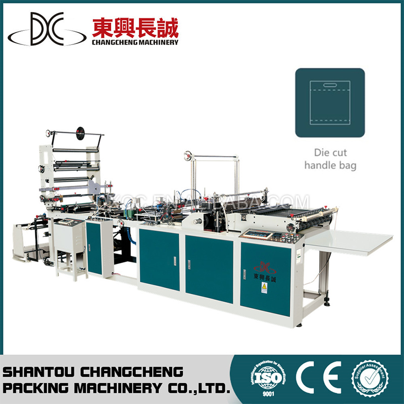 Auto Die Cut Handle Shopping Bag Making Machine Plant