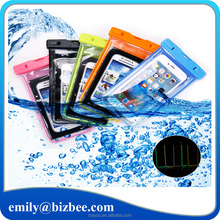 Wholesale free sample universal mobile dry bag pvc waterproof cell phone case for iphone 7 6s