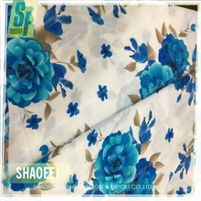 2017 Wholesale Hot Sale Floral Shaoxing Printing Rayon Fabric For Lady Dress One piece beach swimsuit wrap Sarong Pareo