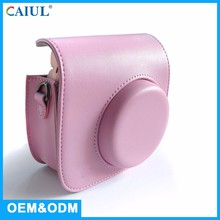 Children Durable Small Pink PU Leather OEM Elegant Korea Camera Bag With Adjustable Straps