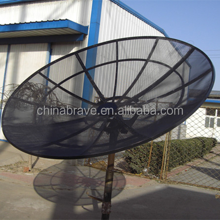 Pole/Polar Mount 12 Feet 3.7m 120/150/180/210/240/300 C Band Satellite Aluminium Mesh Satellite Dish Outdoor Mesh Dish Antenna