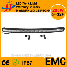 50 inch 288W 3W*96p led light bar curved ip67 for atv utv jeep