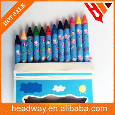 Cartoon 12 colors crayon oil pastel for school