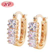 2018 Fashion India Jewelry Rhinestone Clip Earrings With Crystal
