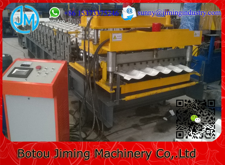 Step Tile Rolling Machinery Clay Roof Making Machine