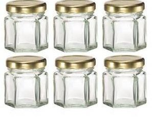 1 oz mini glass jar for honey candy jam/round glass jars and lids