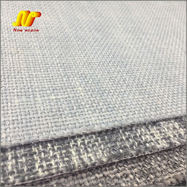 Plain Woven Polyester Canvas Upholstery Fabric for Covering Sofa Cushions