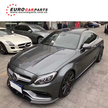 C63 w205 brabas carbon finber parts full set with carbon finber front lip diffuser and muffler tips and carbon rear wing