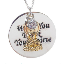 Personalized 925 Sterling silver Buddha What You Think You Become pendant necklace