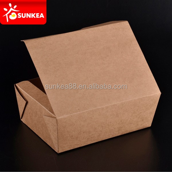 Commercial microwave paperboard hot fast food packaging