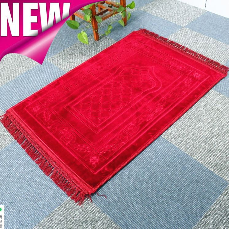 zhejiang shaoxing muslim prayer mat carpet with compass china factory