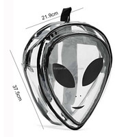 2016 New Unisex Fashion Clear Cartoon School Bags PVC Special Backpacks Hip-Hop Funky Eyes Travel Bag (XJBP15)
