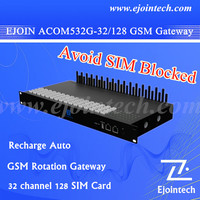 2015 ejoin online firmware upgrade goip gsm gateway,goip 32 / 128 port gsm gateway,every channel has 4 SIM slots